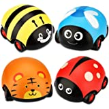 LiKee Animals Pull Back Cars Friction Powered Vehicle Playset Push and Go Back and Forth Car Toys Party Favors Stocking…