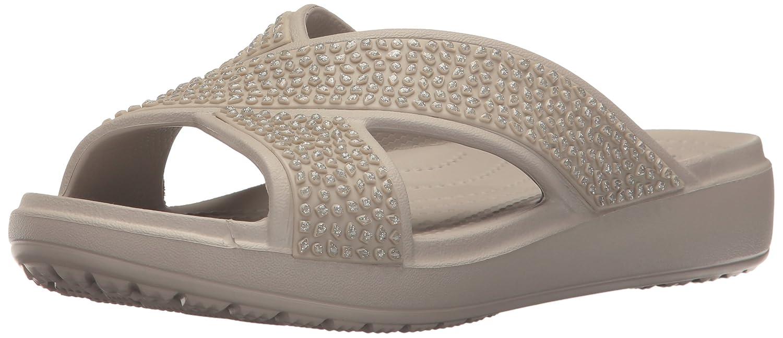 Crocs Sloane Embellished Xstrap, Sandalias Flip-Flop para Mujer, Gris (Platinum), 39-40 EU