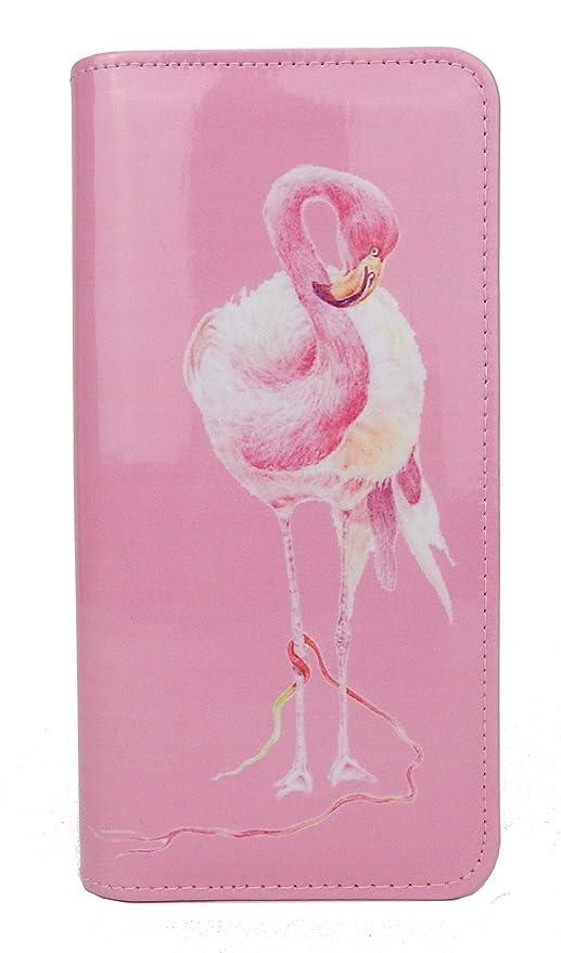 Ella Jonte Flamingo Geldbörse pink rosa Lack Rundum Zipper Portmonee Longbörse