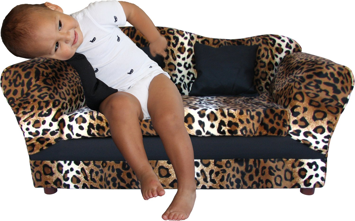 Amazon.com : KEET Wave Kidu0027s Sofa, Leopard : Children S Couch Leopard : Baby