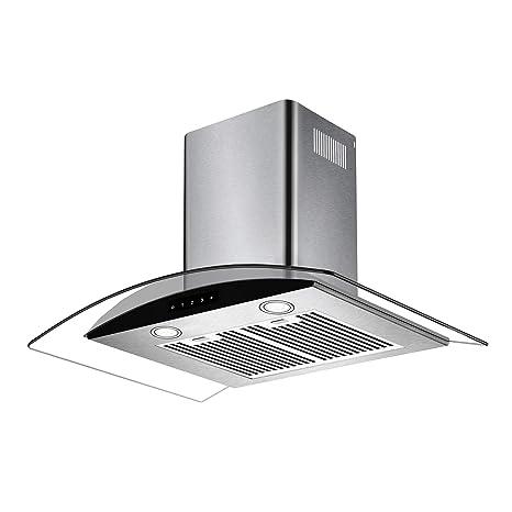 Azure-60 Chimney Hoods 60 cm 1150 m³/hr Cooker Hood, Silver