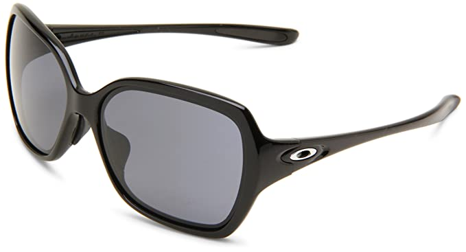 oakley overtime polarized sunglasses  oakley womens overtime oo9167 01 round sunglasses,polished black frame/grey lens,