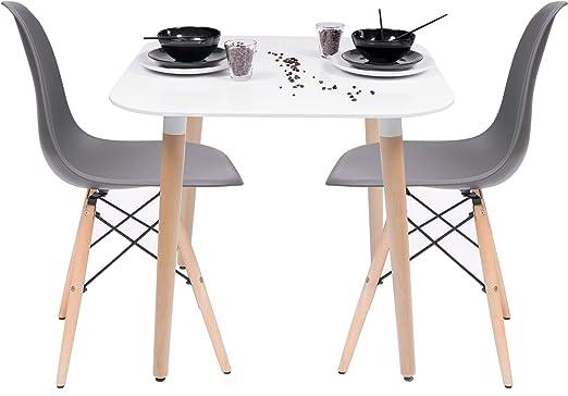 Conjunto de Cocina-Comedor de diseño nórdico-Scandi NORDIK-80, con ...