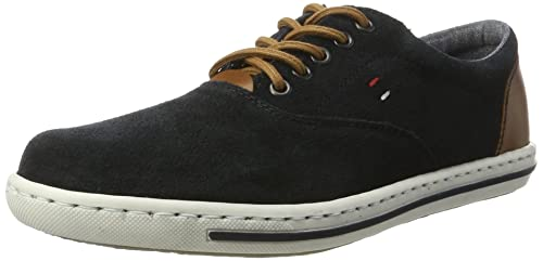 Mens 19010 Low-Top Sneakers, Blue Rieker