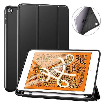 cd0fc8b20d Ztotop iPad mini 5 ケース (2019モデル) 軽量 薄型 ペンホルダー付き 三つ折スタンド