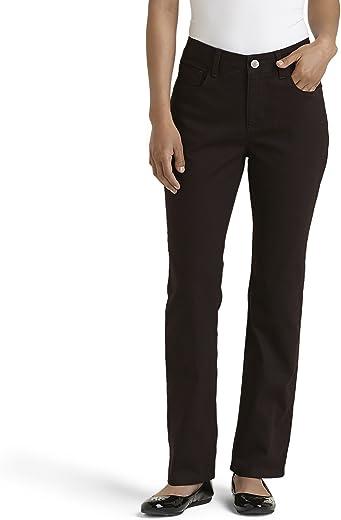 بنطلون جينز Lee نسائي كلاسيكي صغير ذو ساق مستقيمة منرو، برازيلي، مقاس 8 صغير