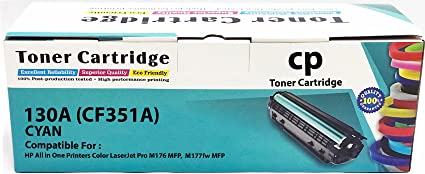 f202b2af6b01 Image Unavailable. Image not available for. Colour: CP 130A / CF351A Cyan  Toner Cartridge for HP Color Laserjet Pro MFP M 176 n