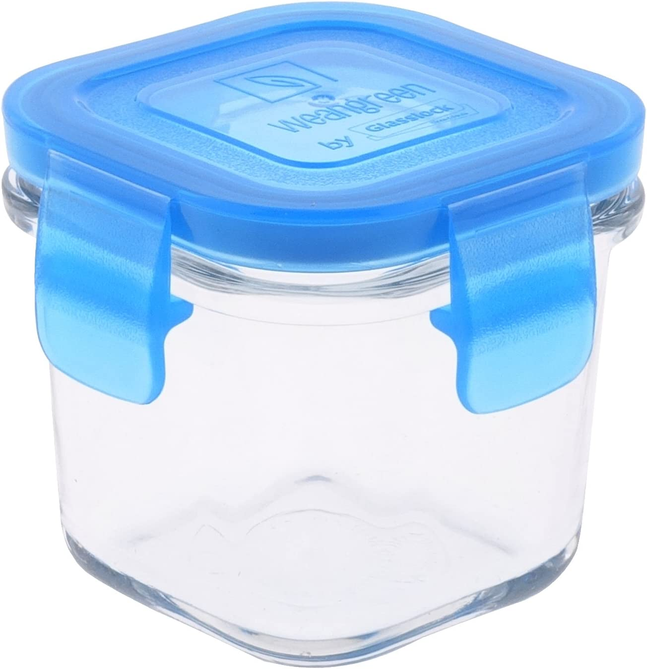 Wean Green Wean Cubes Glass Food Containers, Single, Blueberry