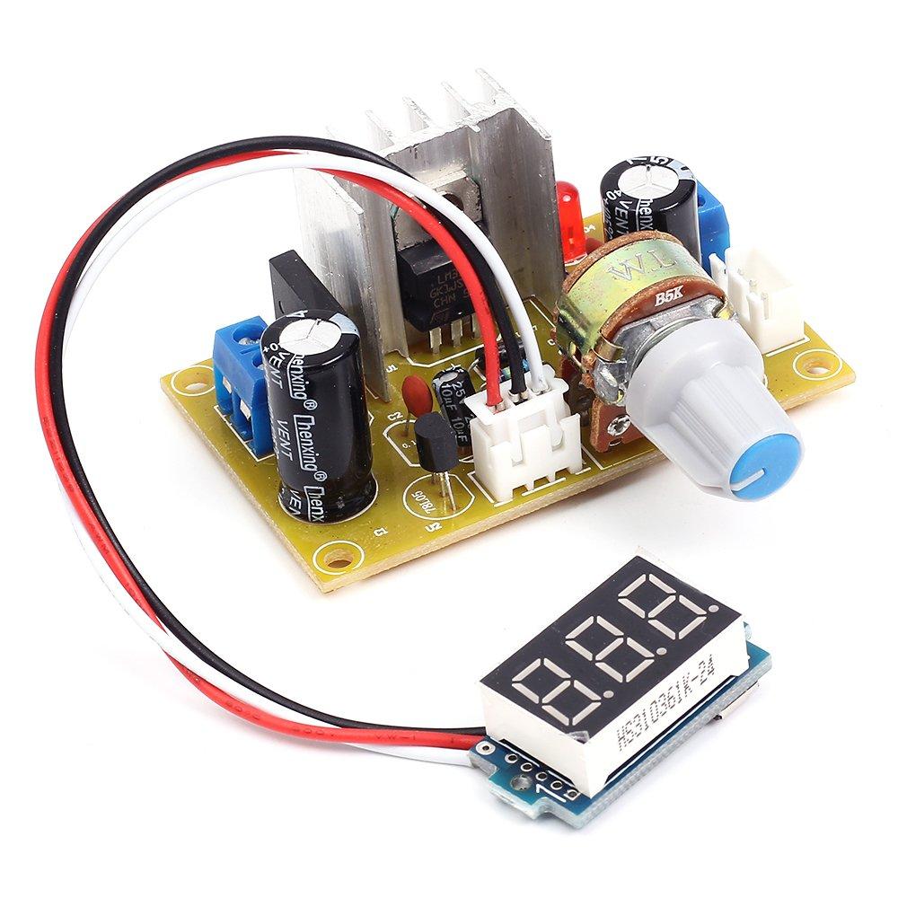 Icstation Lm317 Digital Adjustable Ac Dc To Voltage Based 0 3v Power Supply Regulator Step Down Buck Converter Module 3 30v 125 20v Industrial