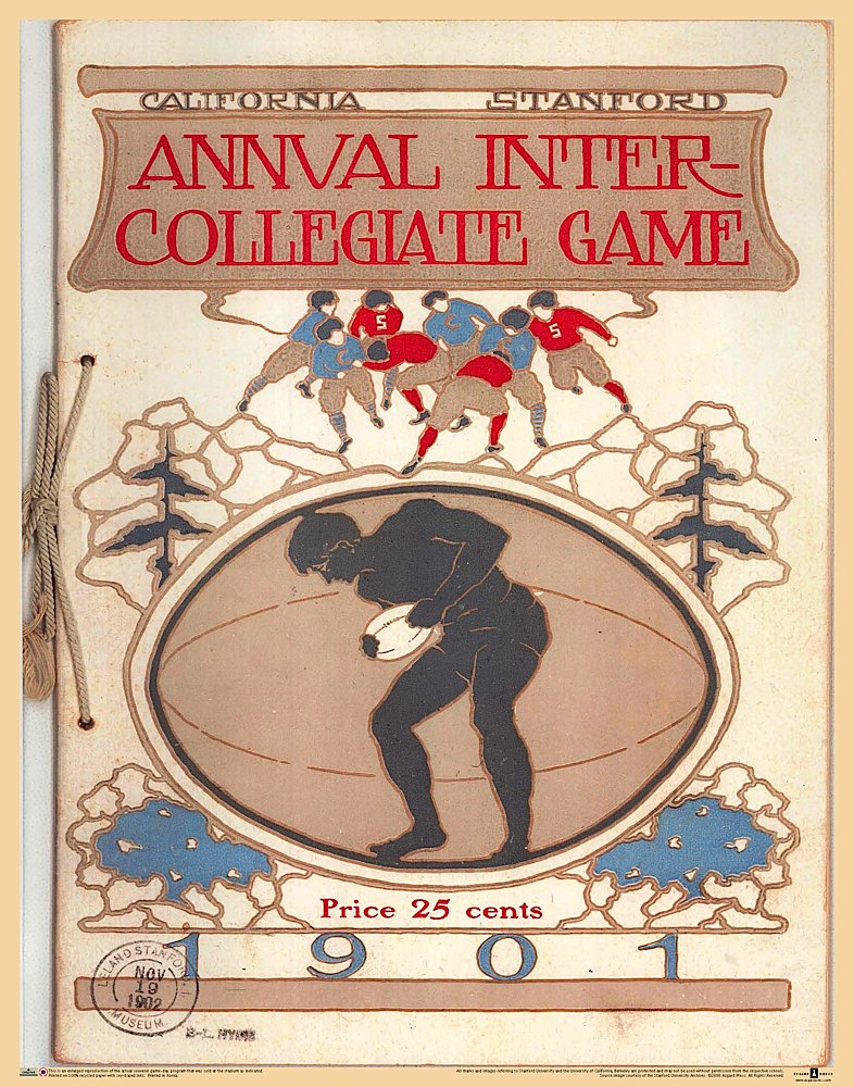 Stanford vs Cal '01 Vintage Football Poster pdf
