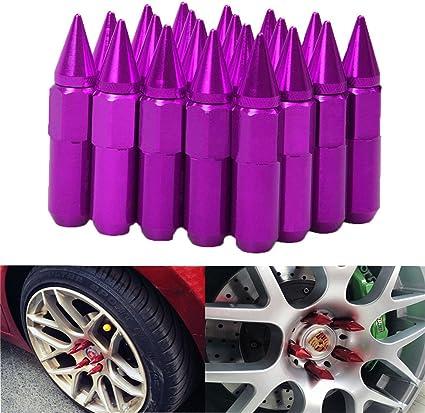 12 x 1,5//1,25 EKYAOMEI 20 tuercas de aluminio para rueda de 60 mm tuerca extensible de fijaci/ón de pinchos