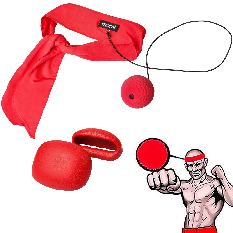 Ancees Fight Ball Reflex, Pelota Reflejo de Boxeo Ball Bola de Reacció n Entrenamiento de Velocidad para el Boxeo, MMA y Otros Deportes (Rojo) Pelota Reflejo de Boxeo Ball Bola de Reacción Entrenamiento de Velocidad para el Boxeo