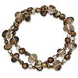 Fwcp Crystal and Quartz 2-strand Stretch Bracelet
