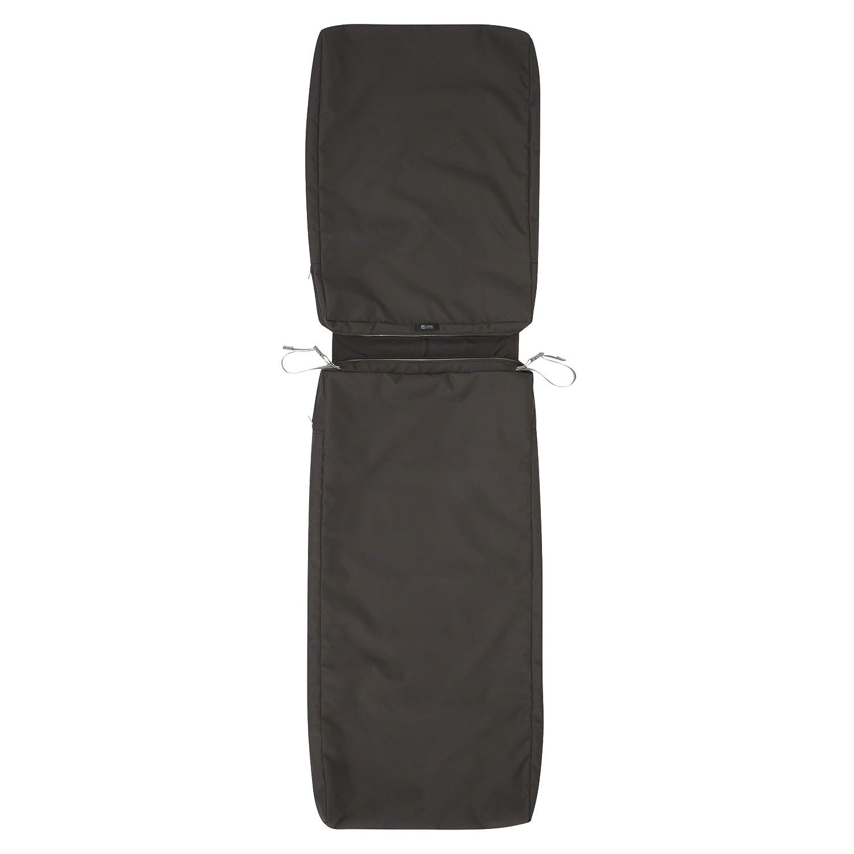 "Classic Accessories Ravenna Patio Chaise Lounge Cushion Slip Cover, Espresso, 72"" x 21"" x 3"""