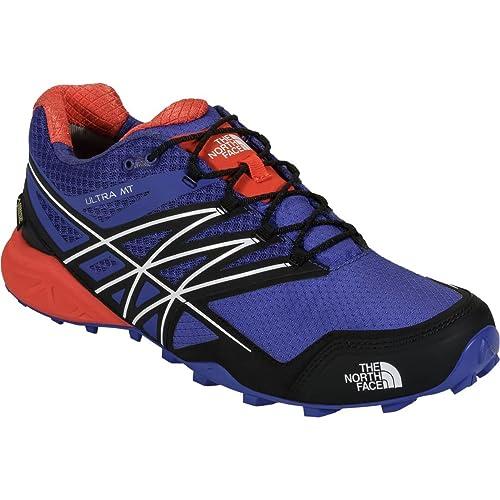 The North Face M Ultra MT GTX, Zapatillas de Trail Running para Hombre, Azul/Naranja, 41 EU: Amazon.es: Zapatos y complementos