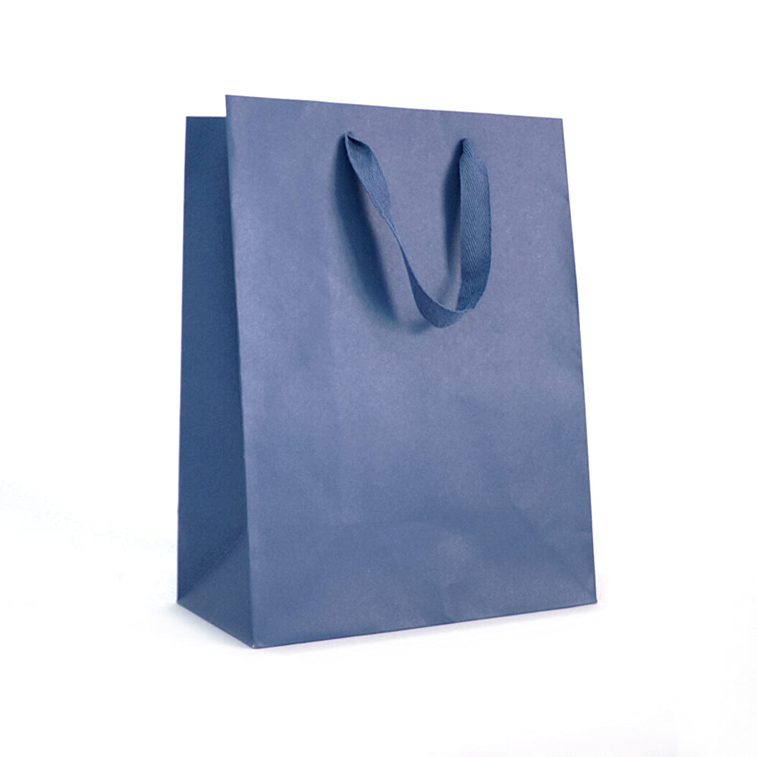 Manhattan Tote Paper Shopping Bags, 8x4x10, Broadway Black, 25/Pack, Merchandise, Retail, Party, Boutique, Gift, Bulk, Reinforced Gusset 8x4x10 White Label