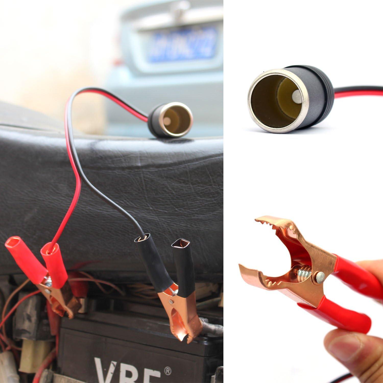 1Pc Alligator Clip 12V Power Cable Crocodile Wire DC Voltage Connector To CW QN