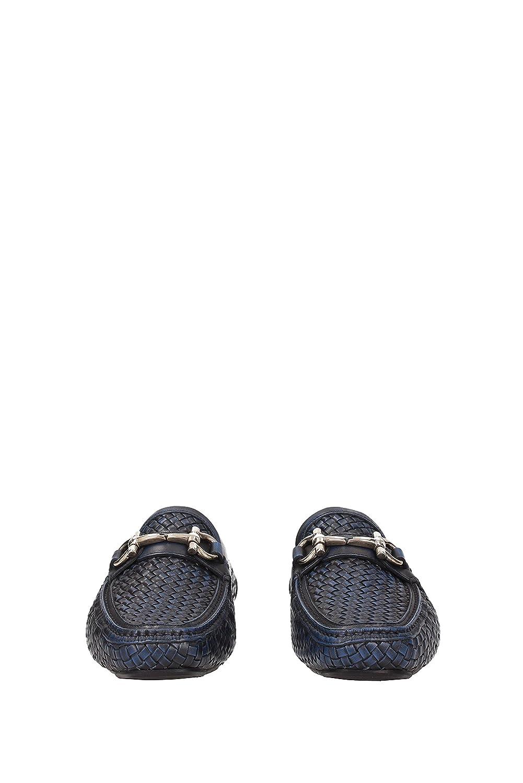 Salvatore Ferragamo - Mocasines de Piel para Hombre Azul Azul, Color Azul, Talla 41: Amazon.es: Zapatos y complementos