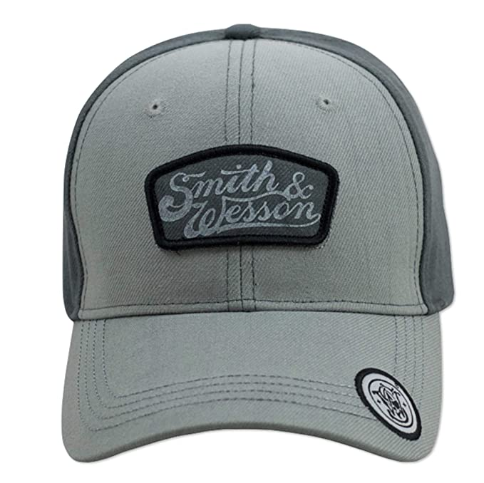 c45995ef Smith & Wesson Gray Two Tone Cap with Gray Patch at Amazon Men's ...