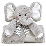 "Bearington Baby Lil' Spout Cuddle Me Sleeper, Elephant Stroller & Security Blanket 28.5"" x 28.5"""