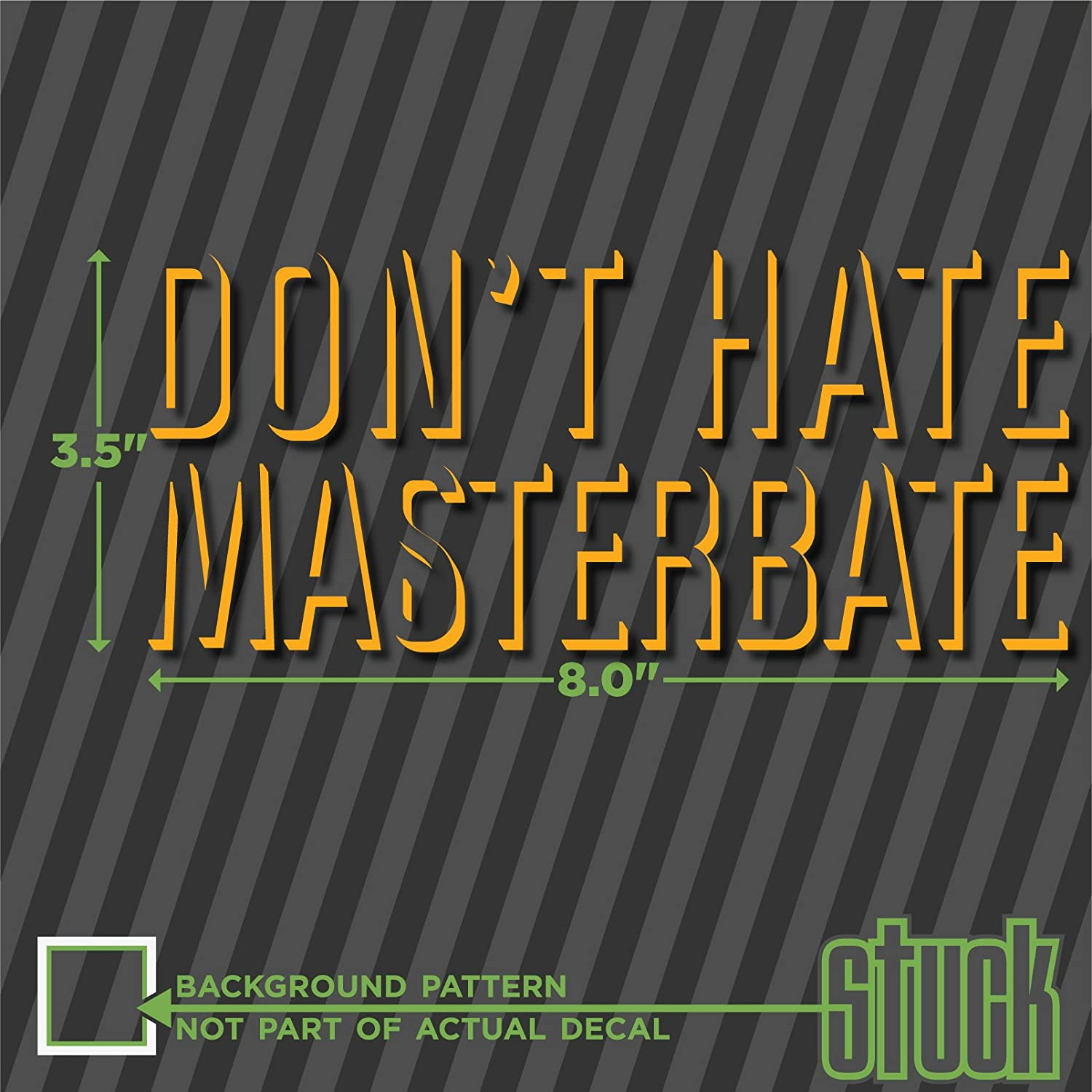 Amazon com dont hate masterbate 8 x 3 5 vinyl decal sticker funny haters automotive