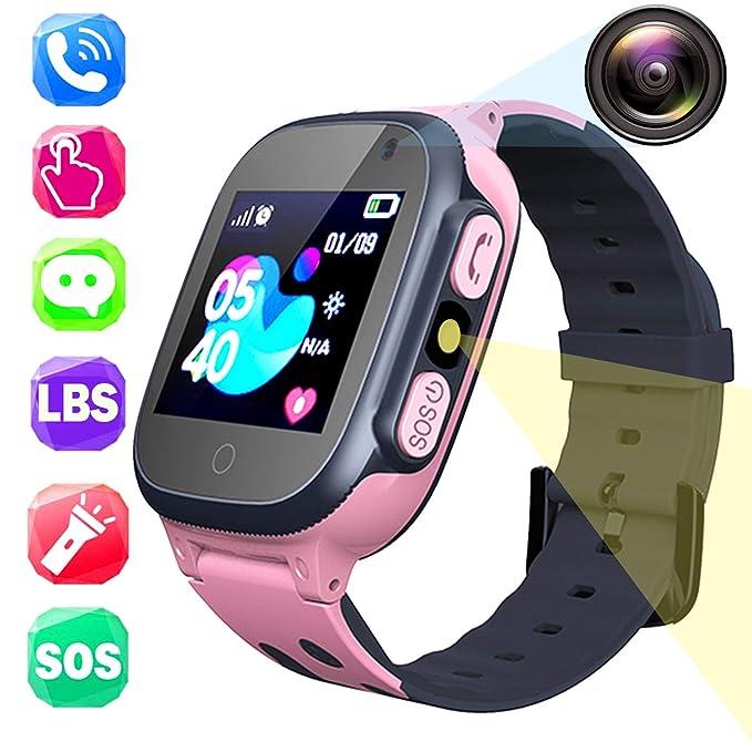 Amazon.com: Kids GPS Waterproof Smart Watch for Girls Boys ...