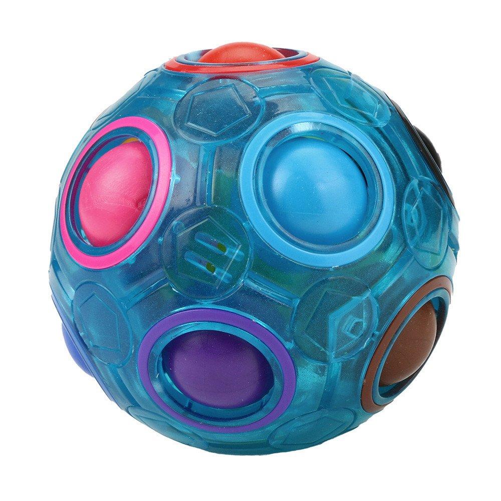 Prise Druck Dekompression Spielzeug langsam Rebound PU Extrusion Spielzeug, Malloom Leuchtender Stressabbau magischer Regenbogen Ball Spaß Würfel Zappeln Puzzlespiel Bildungs Malloom-Bekleidung