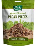 Fresh Gourmet Pecan Pieces, Honey Roasted, 3.5 Ounce
