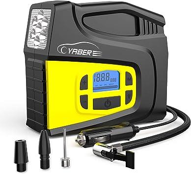 12V Electric Car Air Tyre Inflator Digital Portable Pump-Tyre Compressor Pump