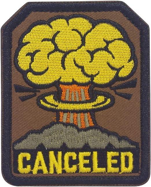 Cobra Tactical Solutions Canceled Fallout Parche Bordado Táctico Moral Militar con Cinta adherente de Airsoft Paintball para Ropa de Mochila Táctica: Amazon.es: Hogar