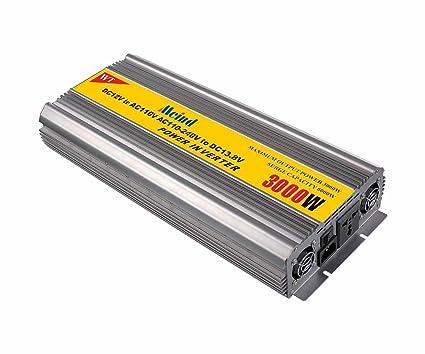 amazon com meind power inverter 3000 watt peak 6000 watt dc 12 volt rh amazon com