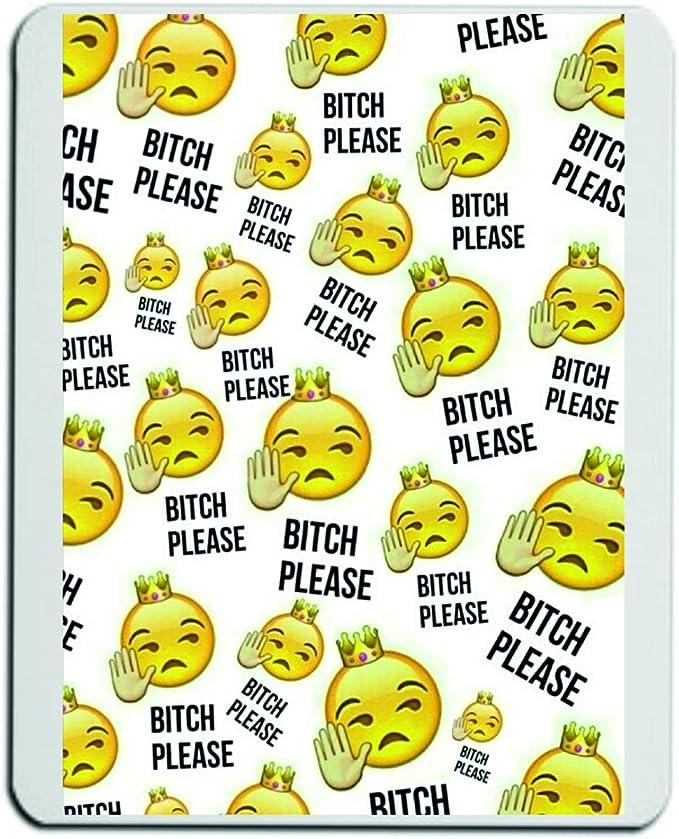 Alfombrilla de ratón Bitch Please Emoji-Kissen-1 arogant Cool ...