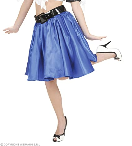 WIDMANN Rock `n Roll giro de raso azul falda de niña. Talla: M ...