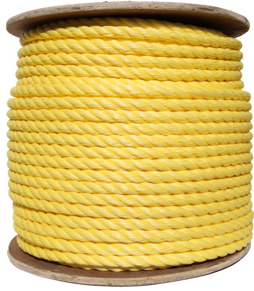 3/8' x 600' Reel, Yellow, 3-Strand Polypropylene Rope Pro Rope