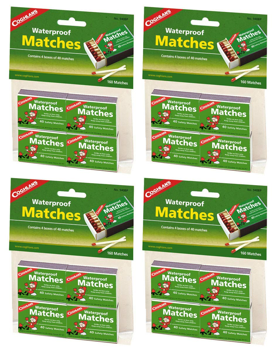 Coghlan's CFWTFPJR 940BP Waterproof Matches, 5 Pack of 20 Boxes by Coghlan's (Image #1)