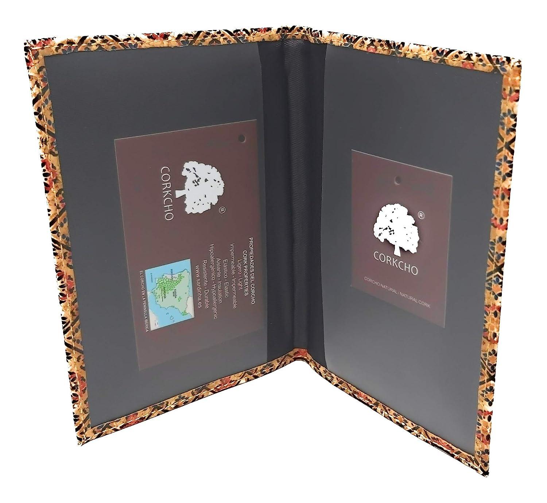 Cenefa Griega Funda Pasaporte Cartera Viaje Moda Corcho SOSTENIBLE 100 x 100 Estampados /étnicos