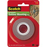 Heavy-Duty Exterior Mounting Tape, Holds 5 lb, 1 in x 60 in Roll, 1 Pack
