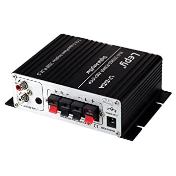 LEPY LP-2020A HiFi (2 x 20W) Amplificador Audio para MP3 MP4 Amplificador Estereo para Telefono Ordenador DAC Fuente de Alimentacion de CA Adaptador de ...