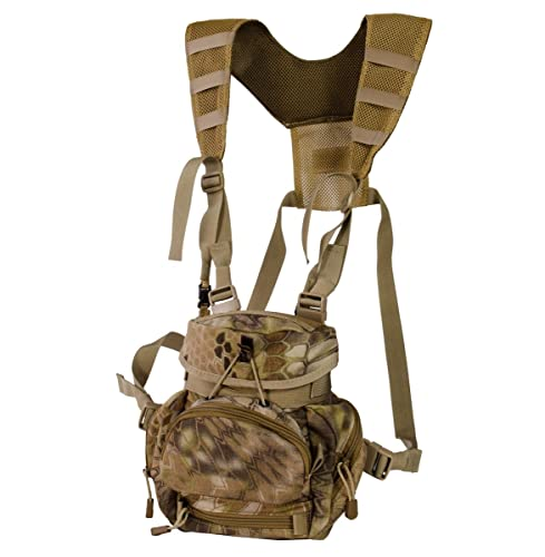 Alaska Guide Creations Kodiak C.U.B MAX Bino Harness-Kryptek Highlander