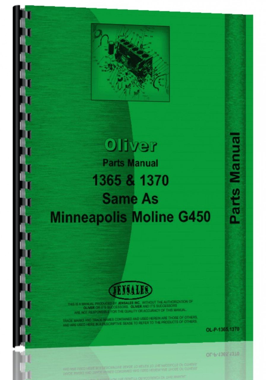 Download Oliver 1365 Tractor Parts Manual PDF