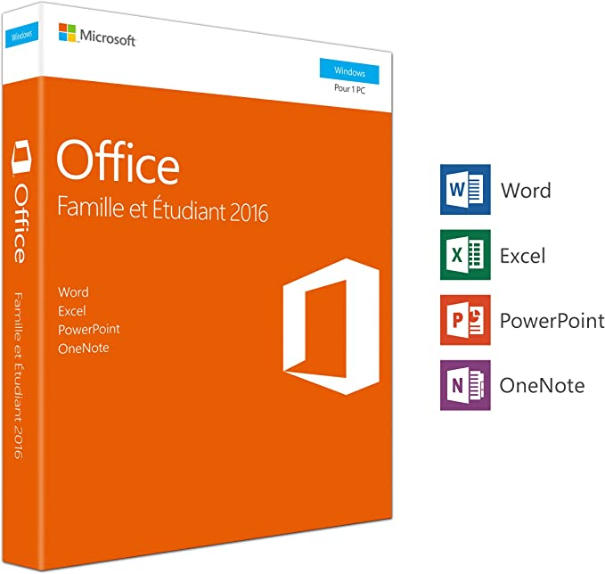 Microsoft Office Home & Student 2016 1 licencia(s) Francés - Suites de programas (1 licencia(s), Francés, Windows Server 2008 R2,Windows Server 2012, 3000 MB, 1024 MB, 1000 MHz): Amazon.es: Software