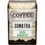Green Unroasted Coffee, 5 Lb. Bag, Fresh Roasted Coffee LLC. (Sumatra Mandheling)