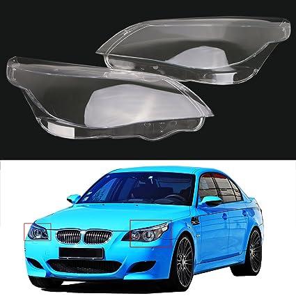 Amazon.com: 1 pair Headlight lens cover / Front Headlamp PC Cover For BMW 5 Serice E60 E61: Automotive