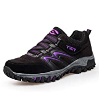 gracosy Women's Lace-Up Low Rise Hiking Trail Shoes Boot Walking Running Outdoor Sports Gym Lightweight Mesh Trainers Waterproof Breathable Trekking Climbing Shoes