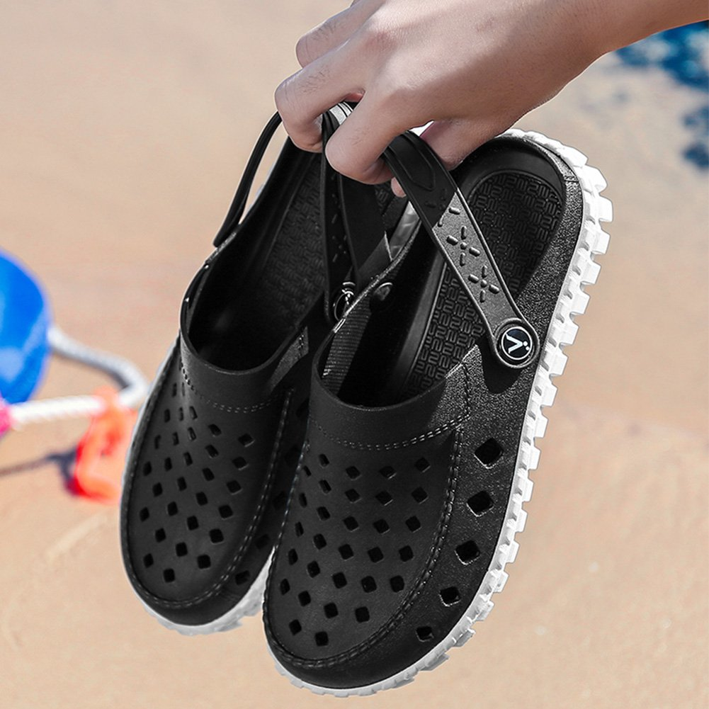 Beister Mens Garden Clogs Mules Beach Anti-Slip Water Shoes Breathable Sandals Slippers Outdoor Shower