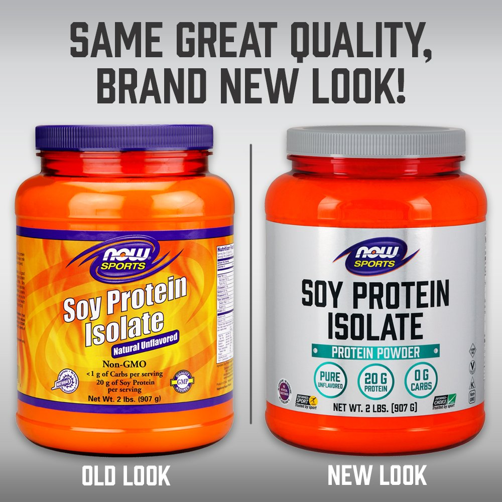 NOW Sports Nutrition, Soy Protein Isolate Powder, Unflavored, 2-Pound by Now Sports (Image #5)