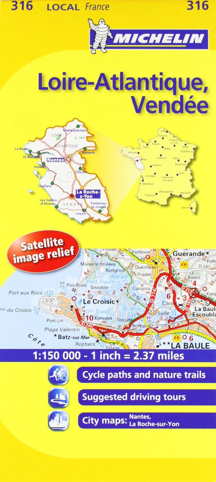 LoireAtlantique Vendee Michelin Local Map 316 Michelin Local