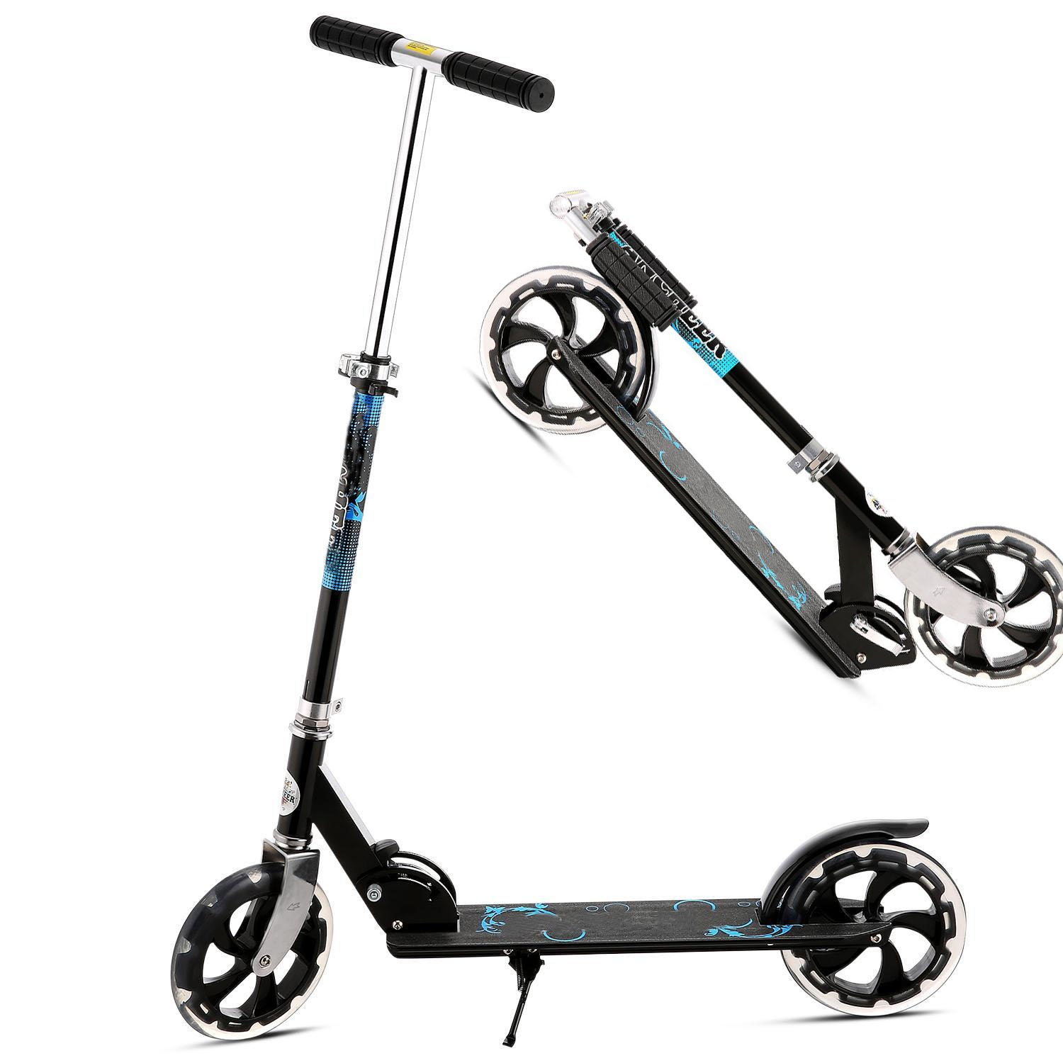Ferty Multifunction Kick Scooter,Portable Foldable 2 Wheel Mini Scooter with Adjustable Handlebars [US STOCK]