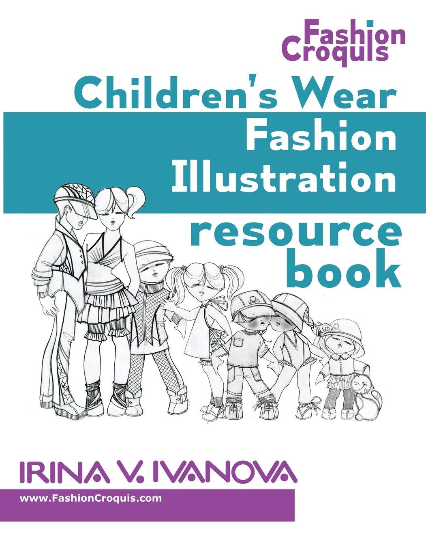 Childrens wear fashion illustration resource