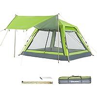 KingCamp Quick Up Tienda de campaña para 3 – 4 Personas, con toldo para Playa y Camping